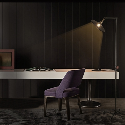 LOFT Retro Black Finished Industrial LED Floor Lamp