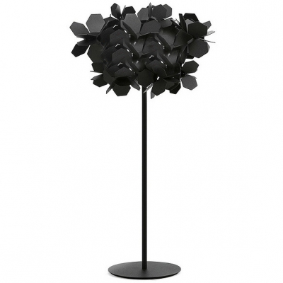 Mysterious modern black flower covered floor lamp beautifulhalo mysterious modern black flower covered floor lamp aloadofball Gallery