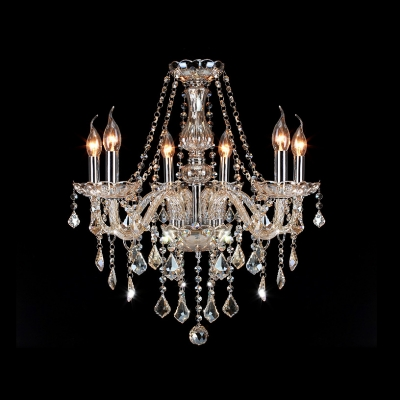 The 3rd page fashion style crystal chandeliers beautifulhalo six candle light warm amber crystal chains and pendants chandelier aloadofball Gallery