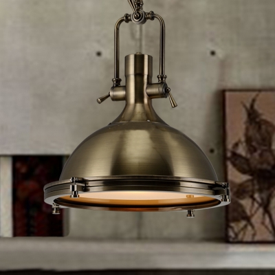 nautical pendant light in antique bronze with frosted diffuser - Bronze Pendant Light