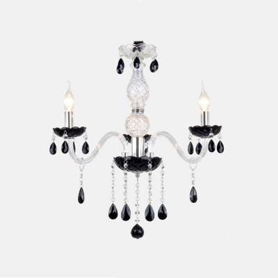 Charming pleated black glass bobeche add stunning touch to sleek charming pleated black glass bobeche add stunning touch to sleek crystal chandelier aloadofball Images