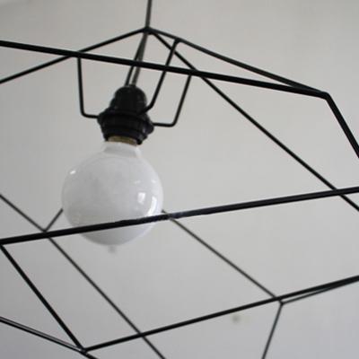 Designer Lighting Asymmetric Iron Cage One-light Pendant
