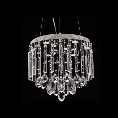 Glittering Crystal Teardrops and Balls Dropped Warm and Chic Large Pendant Lighting