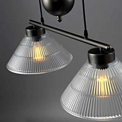 2 Light LED Ceiling Pendant in Antique Black