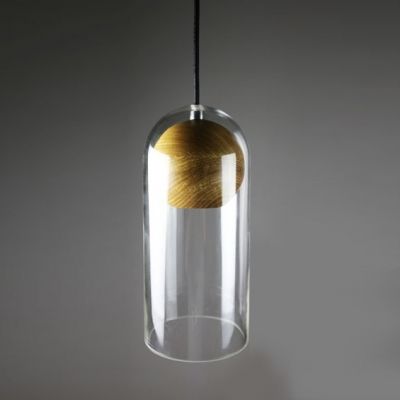 large pendant clear with hung liara stem linea cylinder lamp grande effimero products glass di