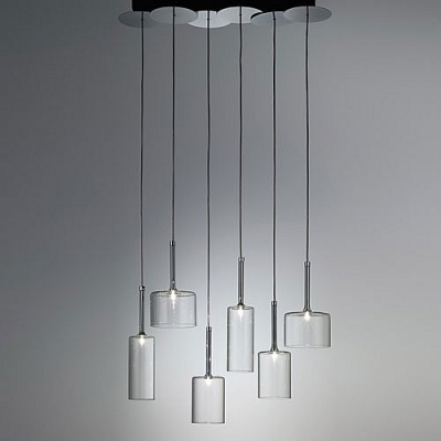 Six Lights Wonderful And Stunning Gl Designer Multi Light Pendant