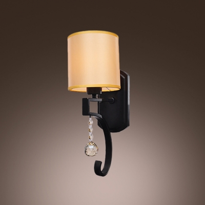 Sophisticated Wall Sconce Features Beautiful Crystal Droplet and Delicate Iron Frame