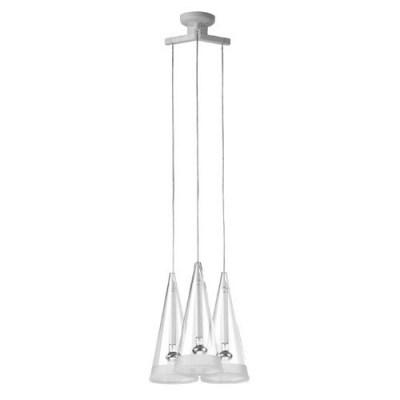 Cone Shade Chic Designer Multi-Light Pendant Light Three Lights