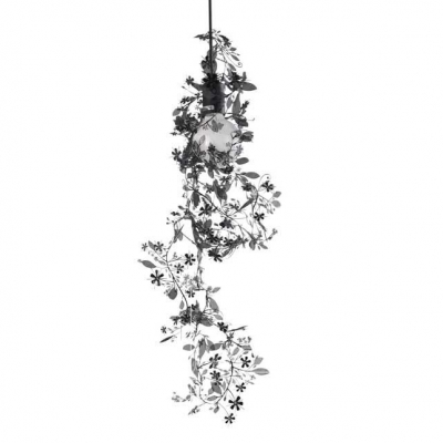 Wrought Iron Beautiful Leaves And Floral Designer Pendant Lights Add Charm To Your House