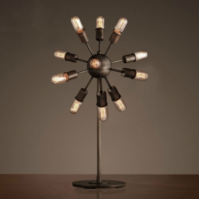 Industrial Burst Table Lamp