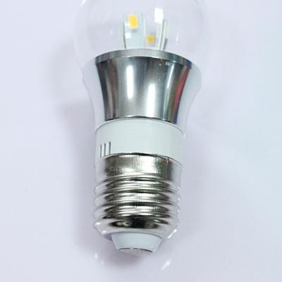 10Pcs 6000K Silver Fiinish 4W 85-265V E27 Mini LED Ball Bulb
