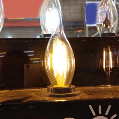 360° Candle LED Edison Bulb E14 4W Cool White Light