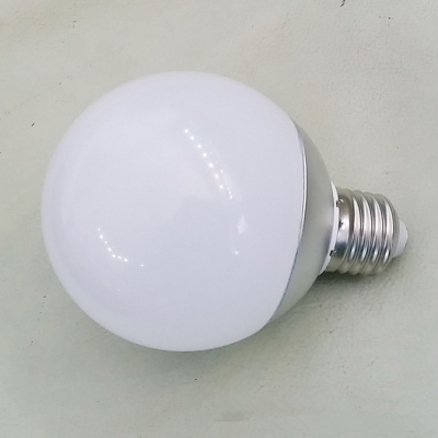 Cool White E27 220V 9W 6000K Chrome LED Globe Bulb