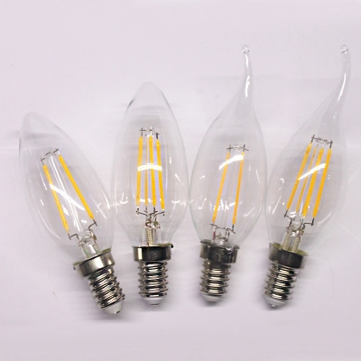 360° Candle LED Edison Bulb E14 4W Cool White Light