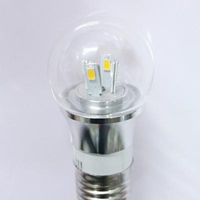 4W 85-265V E14 Mini LED Ball Bulb  in Silver Fiinish