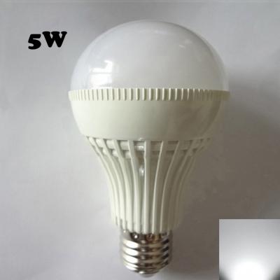 5W E27 220V  180° Cool White Lighted LED Globe Bulb