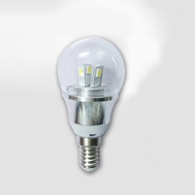 85-265V E14 3W Mini LED Ball Bulb  in Silver Fiinish