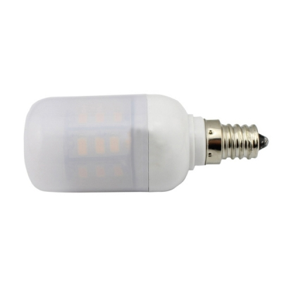 E12 300lm 85-265V Cool White 27Leds 3.6W LED Bulb