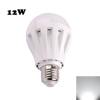12W PC LED Globe Bulb 2835SMD E27  Cool White Light