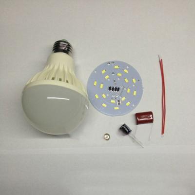 24Leds 145*95mm  SMD5630 PP  220V 6000K LED Globe Bulb