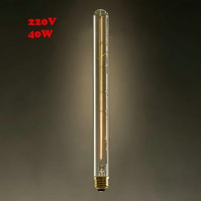 30*300mm T30 220V E27 40W  Edison Bulb