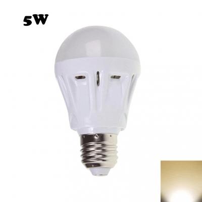5W 2835SMD E27  Warm White Plastic LED Globe Bulb