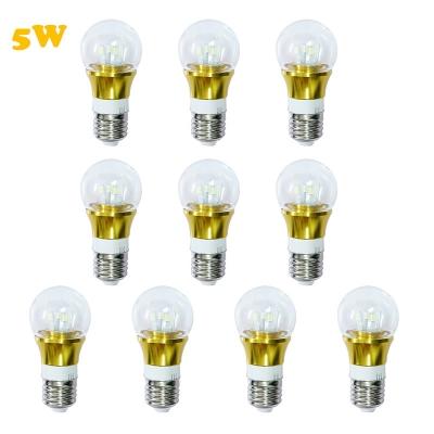 10Pcs 6000K 300lm 5W 85-265V E27 Mini LED Ball Bulb  in Gold Fiinish