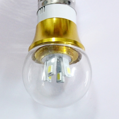 4W 85-265V E14 Mini LED Ball Bulb  in Gold Fiinish