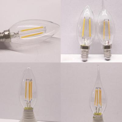 Candle LED Edison Bulb E14 4W Yellow Light