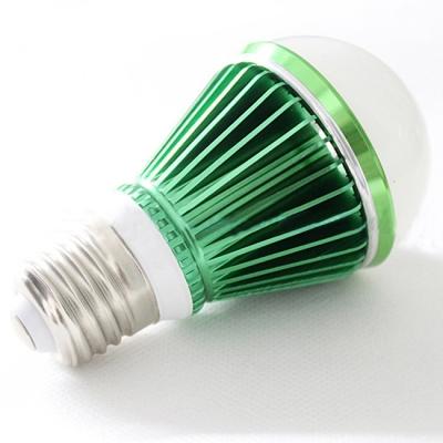 LED Globe Bulb Green 300lm E27 3W Cool White Light