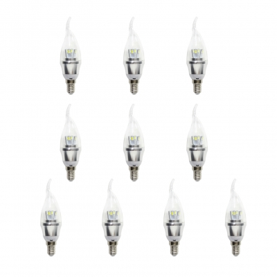 Cool  White 5730SMD 10Pcs  E14  AC85-265V 5W LED Candle Bulb