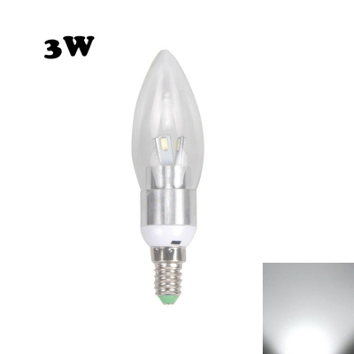E14 3W 85-265V 8Leds 6000K  LED Candle Bulb