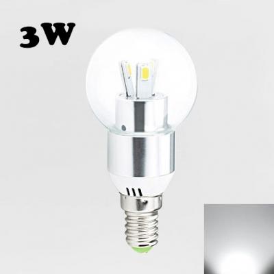 E27 120° 3Leds LED Globe Bulb 3W Cool White