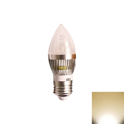 180° 550lm  E27 Candle Bulb 5W Silver  Warm White