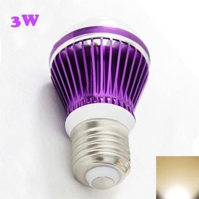Purple LED Globe Bulb 300lm E27 3W  Warm White Light