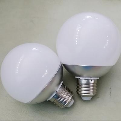 Warm White Chrome E27 9W  LED Globe Bulb
