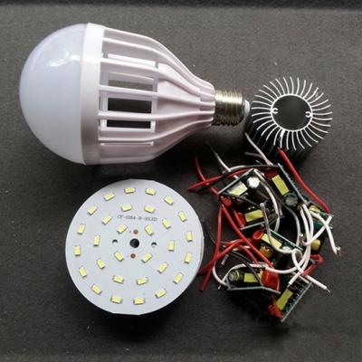 Cool White Light Ball Bulb 220V LED E27 15W  5Packs