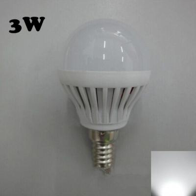 PC 220V 180° SMD2835  Cool White  E14 3W LED Globe Bulb