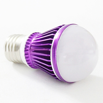 Purple LED Globe Bulb 300lm E27 3W  Warm White Light