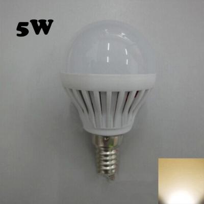 SMD2835 180° PC 220V Warm White  E14 5W LED Globe Bulb