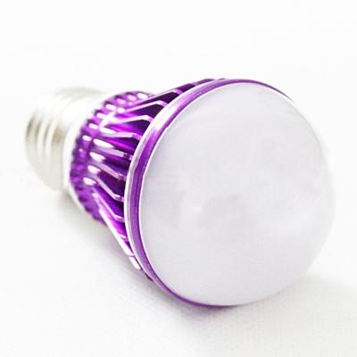 10Pcs 5W Purple 300lm E27  Cool White Light LED Bulb