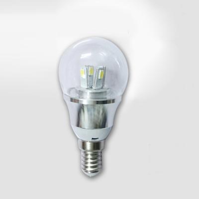10Pcs 6000K  E14 4W 85-265V Mini LED Ball Bulb  in Silver Fiinish