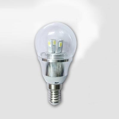 5W 85-265V E14 Silver Fiinished Mini LED Ball Bulb