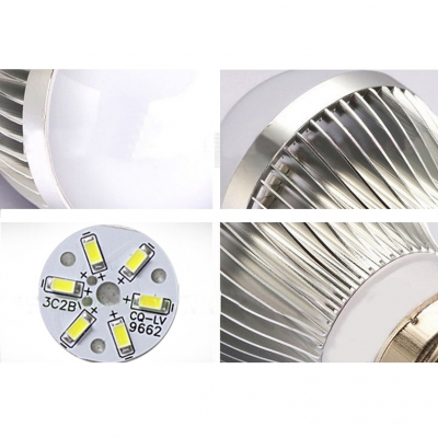 6Led-5730SMD 10Pcs E27 3W Cool White Light