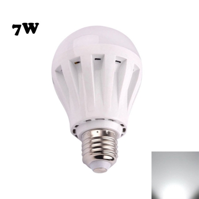 7W PC LED Globe Bulb 2835SMD E27  Cool White Light