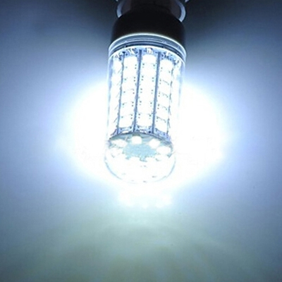 E12 110V 6W 6500K  Clear LED Corn Bulb