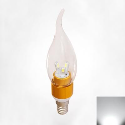 Golden 360°  Cool White LED E14 Candle Bulb 3W