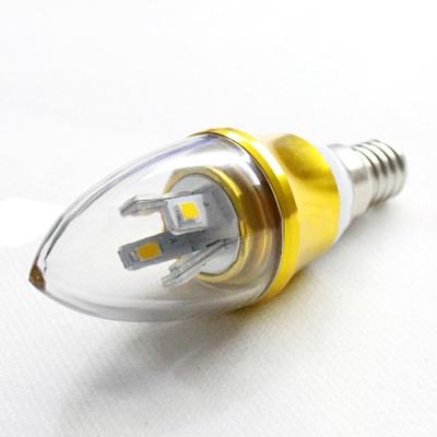 10Pcs  Warm White E14-5730 AC85-265V 5W LED Candle Bulb