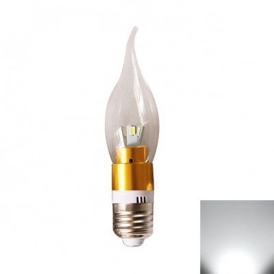 360° 240lm E27 Candle Bulb 3W Golden  Cool White