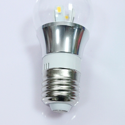 6000K Silver Fiinish 4W 85-265V E27 Mini LED Ball Bulb